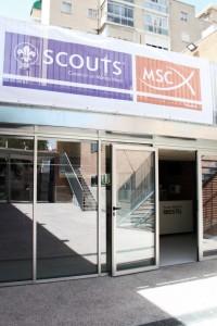 Entrada principal Scout Madrid Hostel