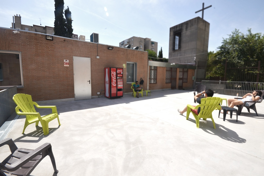 Terraza superior Scout Madrid Hostel